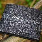 Black Stingray Leather Men's Wallet