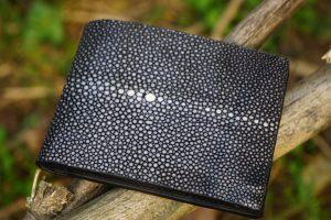 Black Stingray Leather Men's Wallet