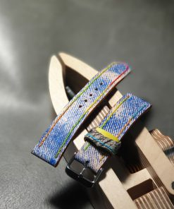 Unique leather custom strap dyed by hand