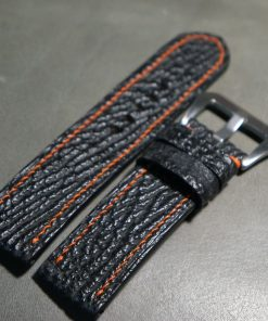 Genuine black shark leather strap