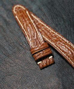 Genuine brown leather strap