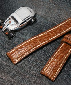 Genuine brown shark leather strap