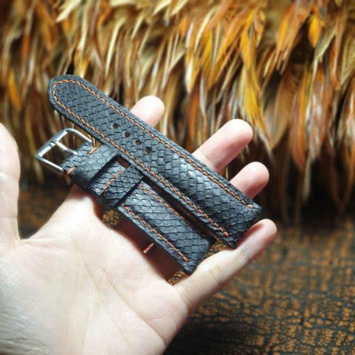 Salmon skin strap