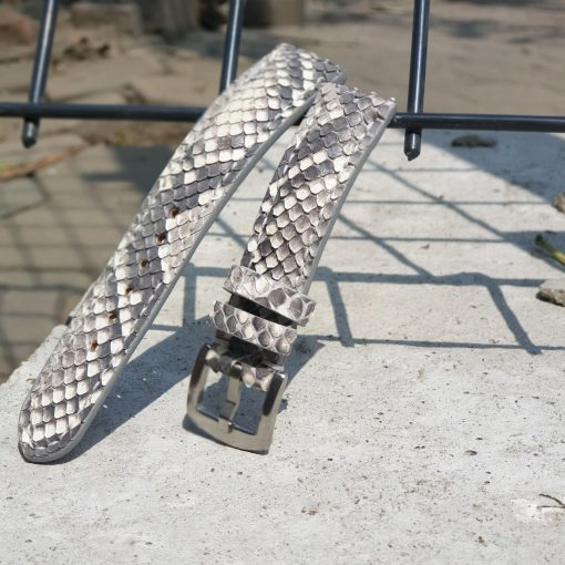 Python leather strap - Exotic leather