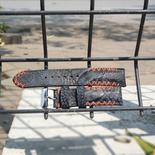 Ostrich leg strap - Exotic leather strap