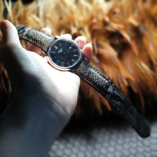 Ostrich leg leather strap
