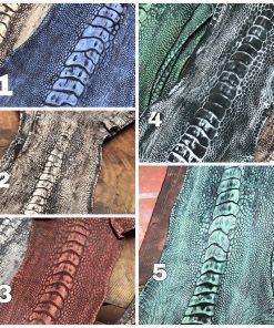 Ostrich leg leather