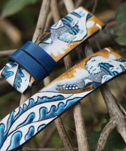 Hand-carved on leather watch strap