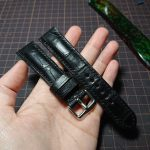 Black Crocodile watch strap
