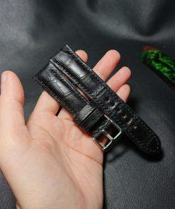 Black Crocodile watch strap
