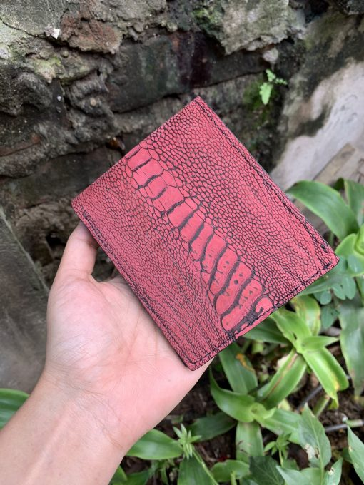 Men's Wallet - Ostrich Leg Leather Wallet