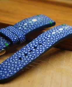 Blue stingray leather watch bands
