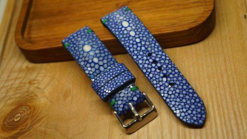 Genuine Blue Stingray Leather Watch Strap