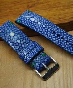 Personalize Blue Stingray Leather Watch Bands