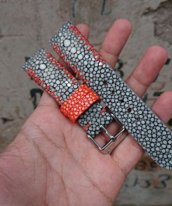 Genuine Gray Stingray Leather Watch Straps