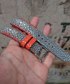 Personalize Grey Stingray Leather Watch Bands