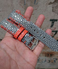 Personalize Grey Stingray Leather Bracelet