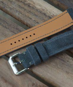 Handmade Grey Suede Watch Strap