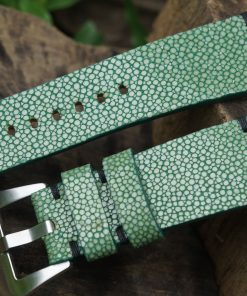 Green Stingray Leather Watch Strap