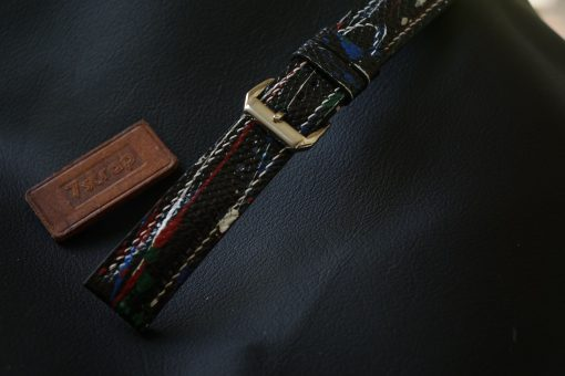 Hand Painted On Lizard Leather Watch Strap
