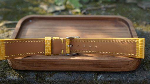 Yellow Lizard Leather Watch Strap