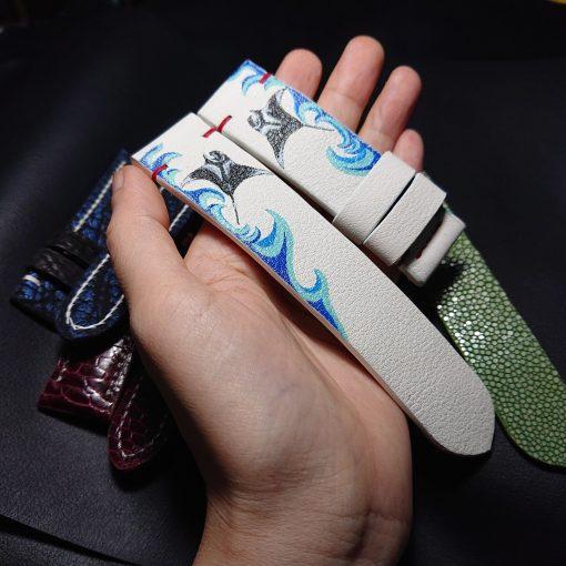Bespoke Drawing Leather Watch Strap