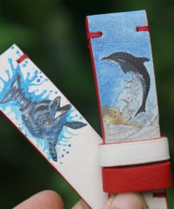 Bespoke Hand Painted Leather Watch Strap