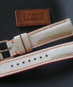 Custom White Lizard Leather Watch Strap