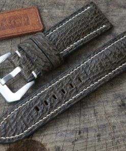 Olive Shark Leather Strap For Panerai