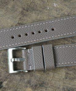 Grey Epsom Leather Watch Strap