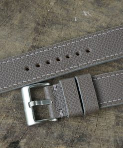 Gray Epsom Leather Watch Strap